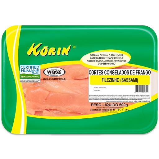 Korin Filézinho Sassami de Frango Congelado Bandeja