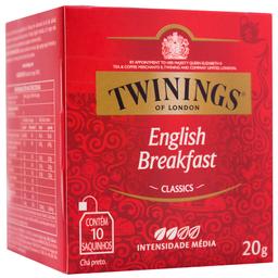 Chá Inglês Preto Twinings 20g com 10 unidades