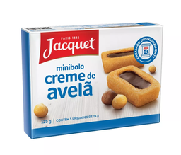 Mini Bolo de Avelã Jacquet 125g com 5 unidades