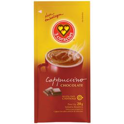 Cappucino Sabor Chocolate 3 Corações Sachê 20g