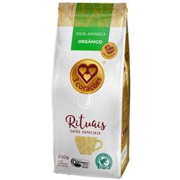 Café Rituais Orgânico em Grãos 3 Corações 250g