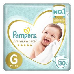 Fraldas Pampers Premium Care G com 30 unidades