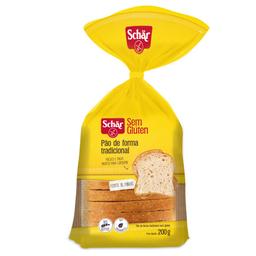 Pão de Forma Tradicional sem Glúten Schar 200g