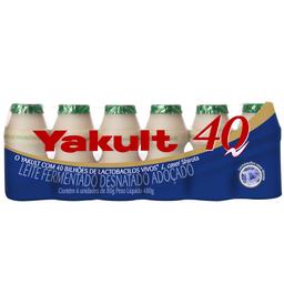 Leite Fermentado Yakult 40 80g com 6 unidades
