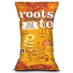 Chips de Banana e Canela Doce Roots To Go 45g