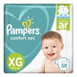 Fralda Pampers Confort Sec XG com 58 unidades