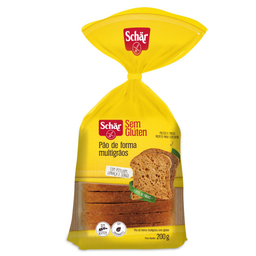 Pão de Forma Multigrãos sem Glúten Schar 200g