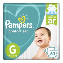 Fralda Pampers Confort Sec G com 60 unidades