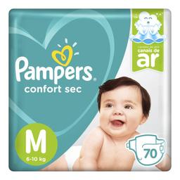 Fralda Pampers Confort Sec M com 70 unidades