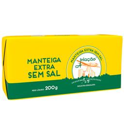 Manteiga Extra sem Sal Tablete Aviação 200g