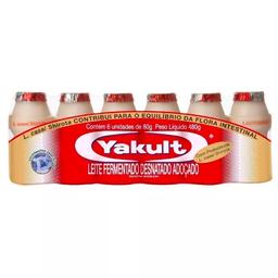 Leite Fermentado Yakult 80g com 6 unidades