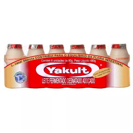 Leite Fermentado Yakult Com 6 U De 480 g