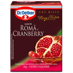 Chá de Flores Cranberry com Romã Dr.Oetker