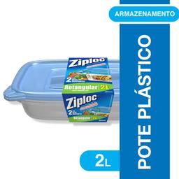 Pote Retangular Ziploc 2 Litros 2 unidades