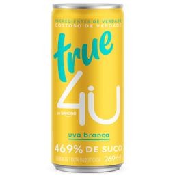 Refrigerante Uva Branca True 4U Lata 269ml