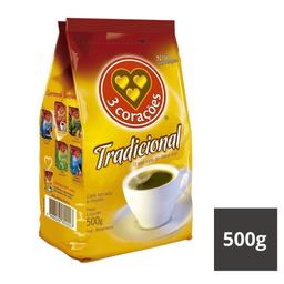 Café Tradicional Almofada 3 Corações 500g