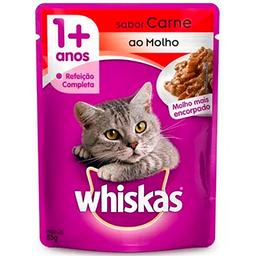 Whiskas Ração Úmida Sachê Carne ao Molho Gatos Adultos