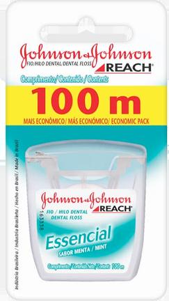 3ca77c12a Fio Dental REACH Johnson s Essencial 100m em sua casa pela Rappi!