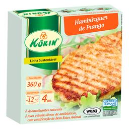 Hambúrguer de Frango Congelado Korin 360g
