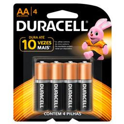 Pilha Alcalina AA Duracell com 4 unidades
