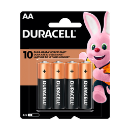 Pilha Alcalina AA Pequena DURACELL com 4 unidades