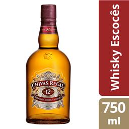 Whisky Escocês 12 Anos Chivas Regal 750ml