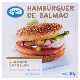 Hambúrguer de Salmão Congelado Damm 360g