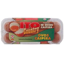 Ovo Caipira Ito Country com 10 Unidades