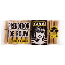 Prendedor de Roupa Gina com 12 unidades