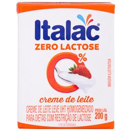 Creme de Leite Zero Lactose Italac 200g