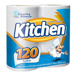 Toalha de Papel Kitchen com 2 unidades