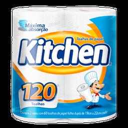 Papel Toalha Kitchen Com 2 Rolos De 60 Folhas Cada