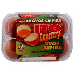 Ovo Caipira Ito Country com 6 unidades