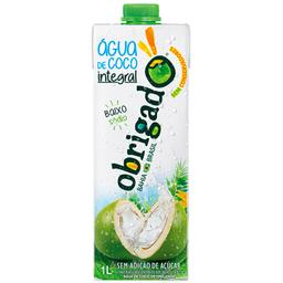 Água de Coco Integral Obrigado 1 Litro