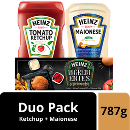 Duo Pack Heinz (Ketchup 397g + Maionese 390g)