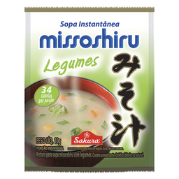 Sopa de Legumes Missoshiro Sakura 10g