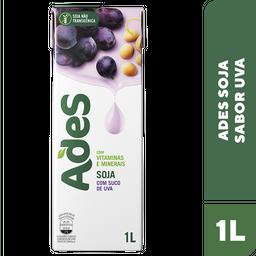 Bebida de Soja sabor Uva Ades 1 Litro