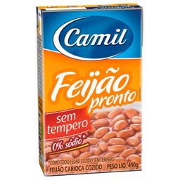 Feijão Carioca Sem Tempero Camil 490g