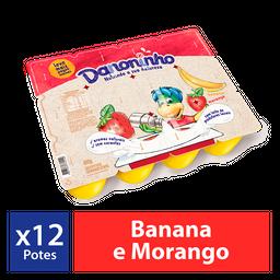 Iogurte Infantil Danoninho Petit Suisse Morango Banana 480G