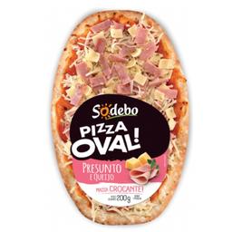 Pizza Oval Presunto e Provolone