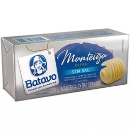Manteiga sem Sal Batavo Tablete 200g