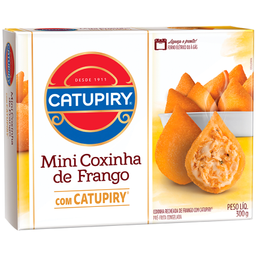 Mini Coxinha de Frango Catupiry 300g