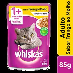 Ração Úmida Whiskas Sachê Frango ao Molho Gatos Adultos 85 g