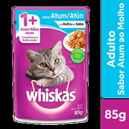 Ração Úmida Whiskas Sachê Atum ao Molho Gatos Adultos 85 g