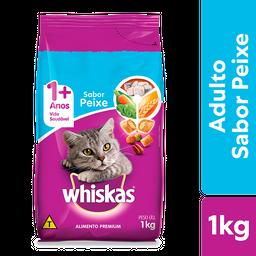 Ração Whiskas Peixe Gatos Adultos 1 kg