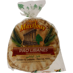 Pão Libanês Maxifour 650g