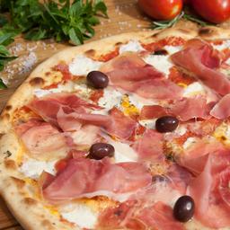 Pizza de Parma E Brie