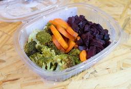 Brócolis, Cenoura e Beterraba Assados