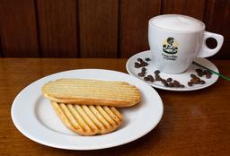 Pão Na Chapa + Café Com Leite Grande