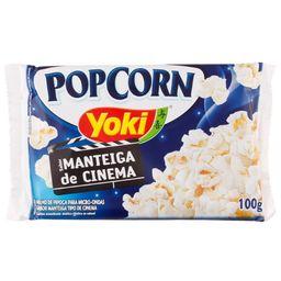 Pipoca Micro Manteiga De Cinema Yoki 100g